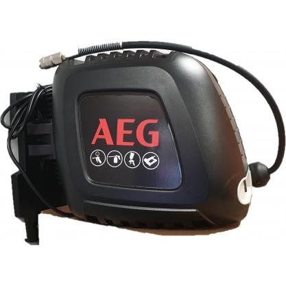 Sprężarka tłokowa bezolejowa AEG ze zwijadłem